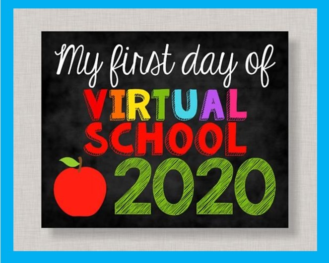 My first day of virtual school picture